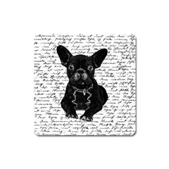 Cute Bulldog Square Magnet by Valentinaart