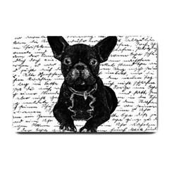 Cute Bulldog Small Doormat  by Valentinaart
