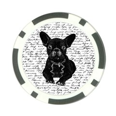 Cute Bulldog Poker Chip Card Guard by Valentinaart