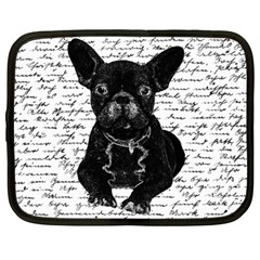 Cute Bulldog Netbook Case (large) by Valentinaart