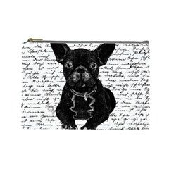 Cute Bulldog Cosmetic Bag (large)  by Valentinaart