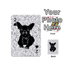 Cute Bulldog Playing Cards 54 (mini)  by Valentinaart