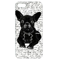 Cute Bulldog Apple Iphone 5 Hardshell Case With Stand by Valentinaart