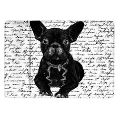 Cute Bulldog Samsung Galaxy Tab 10 1  P7500 Flip Case by Valentinaart