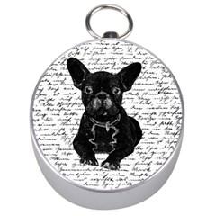 Cute Bulldog Silver Compasses by Valentinaart