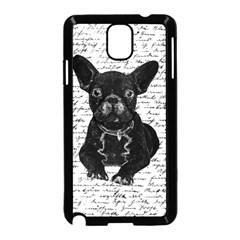 Cute Bulldog Samsung Galaxy Note 3 Neo Hardshell Case (black) by Valentinaart
