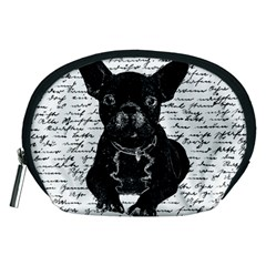 Cute Bulldog Accessory Pouches (medium)  by Valentinaart
