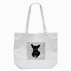 Cute Bulldog Tote Bag (white) by Valentinaart
