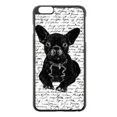 Cute Bulldog Apple Iphone 6 Plus/6s Plus Black Enamel Case by Valentinaart