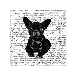 Cute Bulldog Small Satin Scarf (square) by Valentinaart