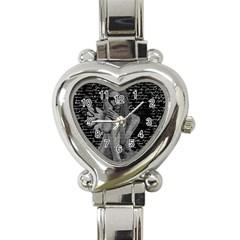 Angel Heart Italian Charm Watch by Valentinaart