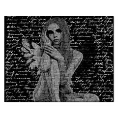 Angel Rectangular Jigsaw Puzzl by Valentinaart