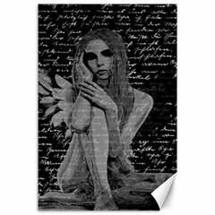 Angel Canvas 24  X 36  by Valentinaart