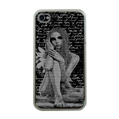 Angel Apple Iphone 4 Case (clear) by Valentinaart