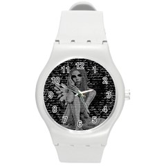 Angel Round Plastic Sport Watch (m) by Valentinaart