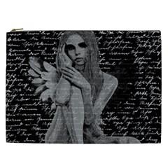 Angel Cosmetic Bag (xxl)  by Valentinaart