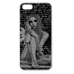Angel Apple Seamless Iphone 5 Case (clear) by Valentinaart