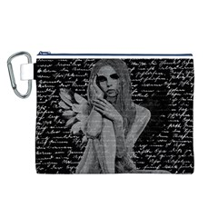 Angel Canvas Cosmetic Bag (l) by Valentinaart