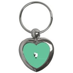Sheep Trails Curly Minimalism Key Chains (heart)  by Simbadda