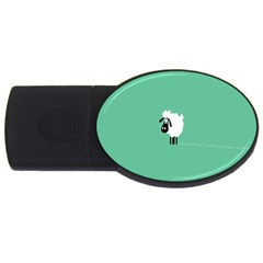 Sheep Trails Curly Minimalism Usb Flash Drive Oval (2 Gb) by Simbadda