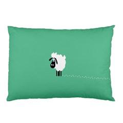 Sheep Trails Curly Minimalism Pillow Case by Simbadda