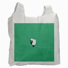 Sheep Trails Curly Minimalism Recycle Bag (one Side) by Simbadda