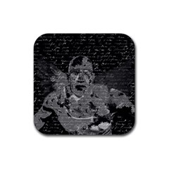 Angel  Rubber Square Coaster (4 Pack)  by Valentinaart