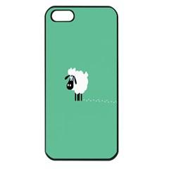 Sheep Trails Curly Minimalism Apple Iphone 5 Seamless Case (black) by Simbadda