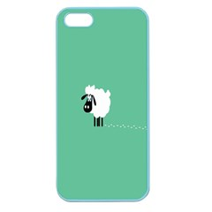 Sheep Trails Curly Minimalism Apple Seamless Iphone 5 Case (color) by Simbadda