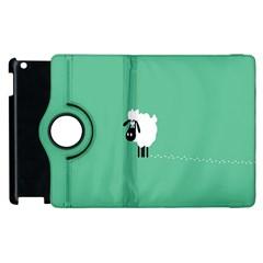 Sheep Trails Curly Minimalism Apple Ipad 3/4 Flip 360 Case by Simbadda