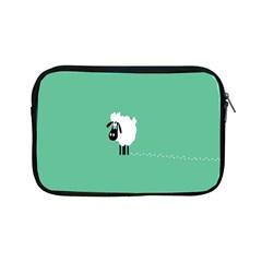 Sheep Trails Curly Minimalism Apple Ipad Mini Zipper Cases by Simbadda