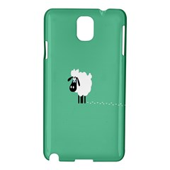 Sheep Trails Curly Minimalism Samsung Galaxy Note 3 N9005 Hardshell Case by Simbadda