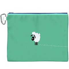 Sheep Trails Curly Minimalism Canvas Cosmetic Bag (xxxl) by Simbadda