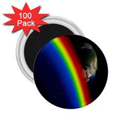 Rainbow Earth Outer Space Fantasy Carmen Image 2 25  Magnets (100 Pack)  by Simbadda