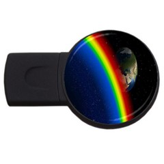 Rainbow Earth Outer Space Fantasy Carmen Image Usb Flash Drive Round (2 Gb) by Simbadda