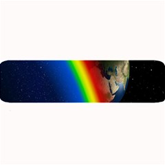 Rainbow Earth Outer Space Fantasy Carmen Image Large Bar Mats by Simbadda