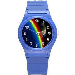 Rainbow Earth Outer Space Fantasy Carmen Image Round Plastic Sport Watch (s) by Simbadda