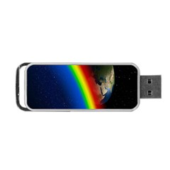 Rainbow Earth Outer Space Fantasy Carmen Image Portable Usb Flash (one Side) by Simbadda