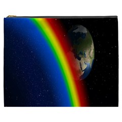Rainbow Earth Outer Space Fantasy Carmen Image Cosmetic Bag (xxxl)  by Simbadda