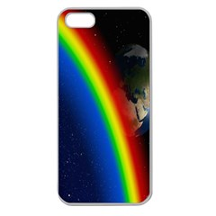 Rainbow Earth Outer Space Fantasy Carmen Image Apple Seamless Iphone 5 Case (clear) by Simbadda