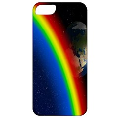 Rainbow Earth Outer Space Fantasy Carmen Image Apple Iphone 5 Classic Hardshell Case by Simbadda