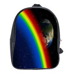 Rainbow Earth Outer Space Fantasy Carmen Image School Bags (xl)  by Simbadda