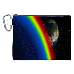 Rainbow Earth Outer Space Fantasy Carmen Image Canvas Cosmetic Bag (xxl) by Simbadda