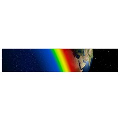 Rainbow Earth Outer Space Fantasy Carmen Image Flano Scarf (small)