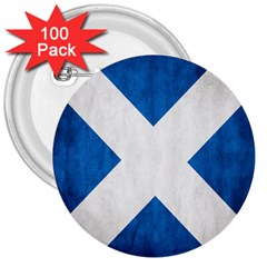 Scotland Flag Surface Texture Color Symbolism 3  Buttons (100 Pack)  by Simbadda