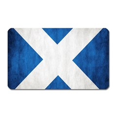 Scotland Flag Surface Texture Color Symbolism Magnet (rectangular) by Simbadda