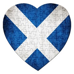 Scotland Flag Surface Texture Color Symbolism Jigsaw Puzzle (heart) by Simbadda