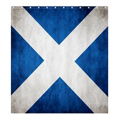 Scotland Flag Surface Texture Color Symbolism Shower Curtain 66  X 72  (large)  by Simbadda