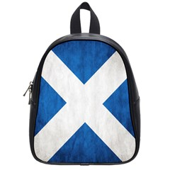 Scotland Flag Surface Texture Color Symbolism School Bags (small)  by Simbadda