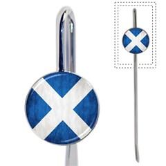 Scotland Flag Surface Texture Color Symbolism Book Mark by Simbadda